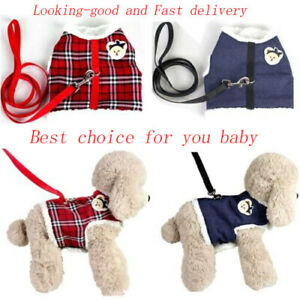 No Pull Pet Fleece Harness Vest Clothes Dog Cat Padded Coat Collar Adjustable
