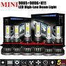 Mini Combo 9006 + 9005 + H11 LED Headlight Kit 744750LM Hi-Low Beam Bulb 6000K~
