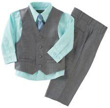 Kenneth Cole Reaction Baby Boys 4 Piece Dress Suit Set  Gray  Sz 18 mo