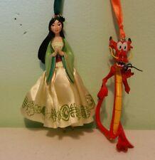 Disney Milan Mushu Cri Kee Cricket Figures Ornaments Set Of 2