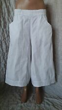 Hebedding White Stripe Paracord Cropped Flare Leg Skirt-trousers size M-L