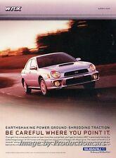 2001 2002 Subaru Impreza WRX - Original Advertisement Print Art Car Ad J673