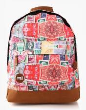 Mi Pac Stamps Premium Backpack Retro Rucksack Designer Bag Unisex Authentic