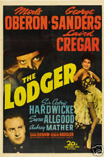 The lodger Merle Oberon vintage movie poster