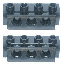 Missing Lego Brick 2989 Black x 2 Technic Brick 1 x 4 with Holes & Bumper Holder