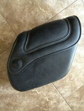titan motorcycles right saddlebag hard bag black leather rm gecko chopper harley
