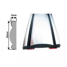35mm Autoadesivo Cromo Argento stampaggio TRIM STRIP per Auto Tuning Styling fai da te - 2m