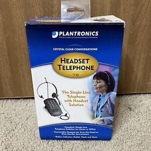 Plantronics T10 Single-Line Headset 4568-11 Office SOHO Telephone