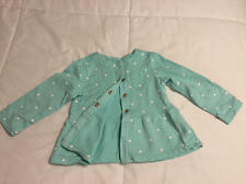 CARTER'S Girls Toddler Lightweight Mint Green Polka Dot Cardigan Jacket 24 M EUC