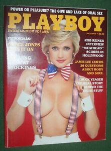 Playboy July 1985 POM Hope Marie Carlton Grace Jones Chuck Yeager Jamie Lee Curt