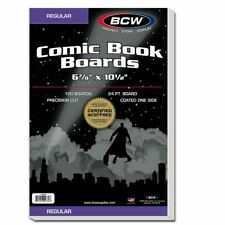 More details for regular comic backing boards x 100 (bcw)