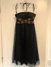 NEW Black Satin Beaded Maxi Dress, Size 16 Womens AU Formal Cocktail Party Tulle