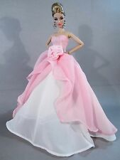 New fashion handmade Wedding Clothes Gown Party Dresses for Barbie Doll @ 2015