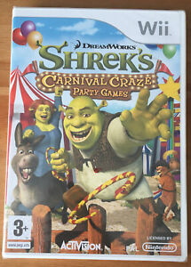 Dreamworks Shrek's Carnival Craze Party Games Nintendo Wii Game 2008 New