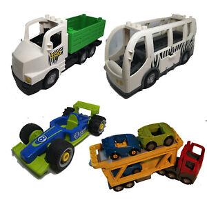 LEGO Duplo Fahrzeuge Polizei LKW Krankenwagen Zoo Camping Pferde Flugzeug Bagger