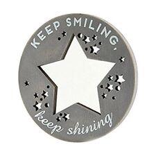 Keep Smiling Keep Shining Wooden Hanging Plaque Sign Rustic Mirror Mirror Range