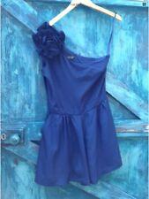 Womens Playsuit Size 12 TOPSHOP Blue Chiffon One Shoulder Party Summer Vgc