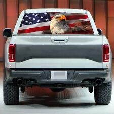 AMERICAN EAGLE Flag stars Rear Window Graphic Decal  Sticker Truck SUV X1B9