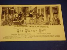 Pioneer Grill Stage Henry Clay George Washington Hotel PA Vintage Postcard PC6