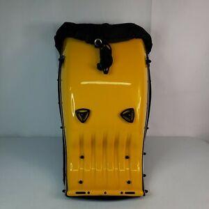 Techno Ergo Hard Shell Backpack Yellow Black Motorcycle Hiking