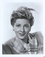 Joan Fontaine Hand Signed 8x10 Photo+Coa Stunning Hollywood Legend