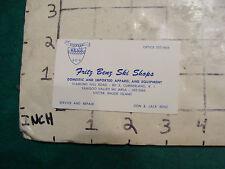 Vintage High Grade BUSINESS CARD: Fritz Benz Ski Shops; exeter RI--1970