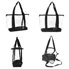 Dalix Clear Shopping Bag Security Work Tote Shoulder Bag Womens Handbag In Black