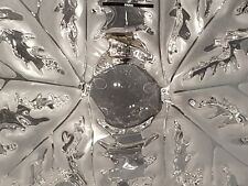 Lalique vaso, centro in cristallo, champs elysees crystal bow. Lunghezza cm 24