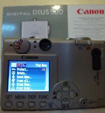 Canon IXUS 500 / PowerShot Digital 5.0MP Digital Camera - Silver - Extras