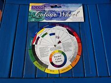 ARTIST POCKET COLOUR WHEEL ICON MIXING 13CM GUIDE TOOL  art accessories