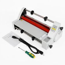 13 Roll Laminator Digital Single Amp Dual Sided Hot Cold Laminating Machine New