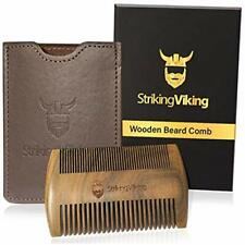 Wooden Beard Comb & Case From Striking Viking - Anti - Static And Hypoallergenic