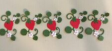 5 STRAWBERRY VINES.  SUMMER. FRUITS. EMBELLISHMENTS.  CARDS. SCRAPBOOK PAGES.