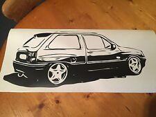 Vauxhall Nova GTE SR Corsa Opel Retro Wall Art Sticker 39 x 17.4inch - Free P&P