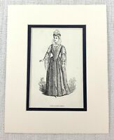 1889 Antico Stampa Viola Tribunale Abito Dodicesimo Notte Costume William
