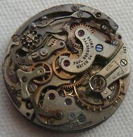 Paul Breguette Heuer chronograph mens wristwatch movement balance Ok. to restore
