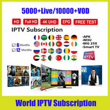 IP TV 1 Year Firestick Smart TV Subscription Smarters Pro Android Box M3U smart