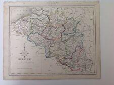 Belgium c1850 Original Antique Map 12.5x10 Gilberts Modern Atlas