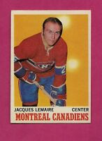 1970-71 OPC  # 57 CANADIENS JACQUES LEMAIRE EX CARD (INV#6100)