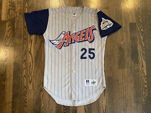 RARE Russell Authentic JIM EDMONDS #25 Anaheim Angels Jersey 40 Medium M Disney