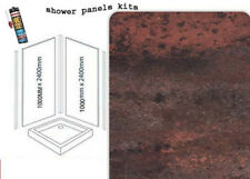 RED METALIC  SHOWER WALL PANELS KITS 2X1M X 2400X 10MM THICK WET WALL