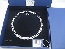 Swarovski Curled All-Around Necklace, Rhodium-Plated Crystal Authentic 5120541