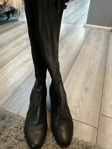 geox Leather Knee High Boots Size 5