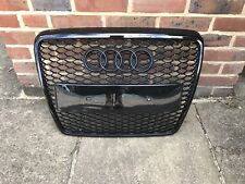 AUDI A6 C6 S-LINE RS6 STYLE S6 FRONT BUMPER RADIATOR GRILLE GLOSS BLACK 2004-11
