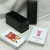 Vintage Playing Cards By KEM Complete Deck & Pinochle in Case Made in USA