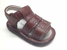 New Infant/Toddler Boys Genuine Leather Sandals Size  2 ~ 9 Open Toe