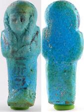 Egypt faience shabti for Nes-pa-nefer-her from Deir el-Bahri, Cache II
