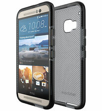 Genuino Funda de verificación Tech 21 Evo para HTC One M9. T21-4440 - Negro/Ahumado