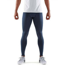 Skins Mens DNAmic Force Compression Long Tights Bottoms Pants Trousers Blue