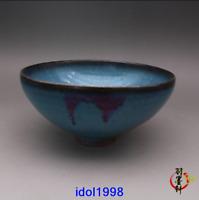 old China antique Song dynasty Jun kiln Variable glaze Heart-shaped bowl